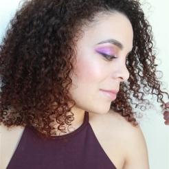 Shooting photo portrait mode maquillage violet naturel Maquilleuse Coiffeuse Paris Photographe portrait paris